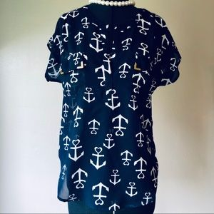 Live 4 Truth Nautical Anchor Blouse